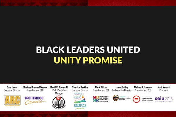 Statement of Solidarity of Black Civil Rights and Community-Based Organizations in Los Angeles